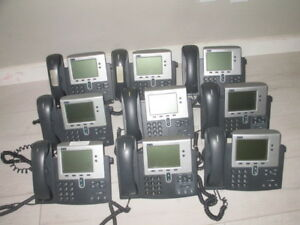 Lot Of 9 Cisco Systems 7940g Voip Business Ip Telephones Cp 7940g