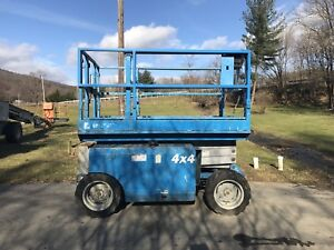 2008 Genie Gs 2668rt 26 4x4 Diesel Compact Rough Terrain Scissor Man Lift