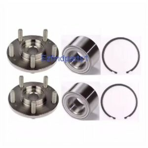 Front Wheel Hub Bearing W Snap Ring For 2007 2013 Jeep Compass 4 Wheel Abs Pair