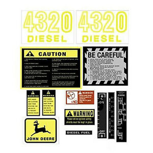 Jd418 Hood Safety Decal Set For John Deere Tractor 4320