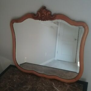 Antique Beveled Glass Wall Mirror