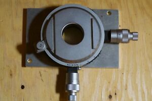 Nikon Industrial Microscope X y Stage Micrometers For Adjustment