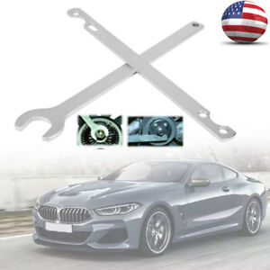 2pcs Set 32mm Fan Clutch Nut Wrench Water Pump Removal Holder Tool Kit For Bmw