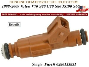 1 Fuel Injector Bosch Oem 1998 2009 Volvo V70 S70 C70 S80 Xc90 S60 0280155831