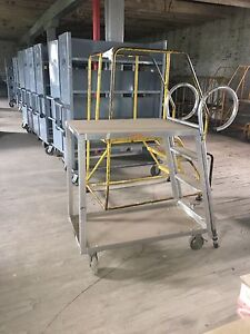 Almuminum 4 Step Rolling Ladders