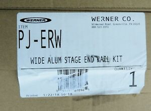 Werner Pj erw Wide Aluminum Pump Jack Stage End Rail Kit For Scaffolding New