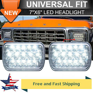 7x6 Cree Led Headlight Sealed Beam High Low Headlamp H6052 H6054 H6545 Bright