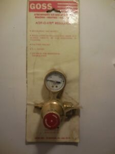 Air acetylene Regulator Acet o lite Go Ea 2g 328 ea 2g New