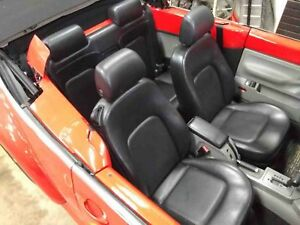 Rear Seat Assembly Vw Beetle Convertible 00 01 02 03 04 21k Miles Black Leather