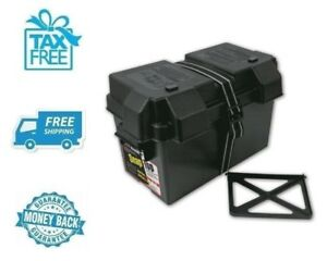 New Black Battery Box Tray Marine Car Charger Polypropylene Plastic Container