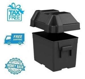 New Black Battery Box Tray Marine Car Charger Plastic Storage Container No Tax