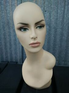 Less Than Perfect 174 c Female Fleshtone Mannequin Head Form W Pierced Ears