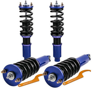 Coilover Kits Fit Honda Crv 1996 2001 Adjustable Height Shocks Blue