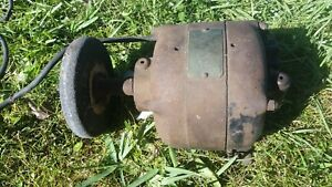 Antique General Electric Motor A c Model 20001 Grinding Wheel 1 6 Hp 1725 Rpm