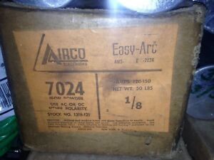 Airco Easy arc 1 8 7024 Welding Rods Electrodes 50 Lb Box Made In Usa