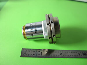 Microscope Objective Leitz Wetzlar Germany Fluotar 100x Infinity Optics Bn a9 06