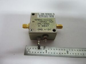 Mini Circuits Rf Amplifier Frequency Zfl 2000 Bin b2 c 85