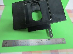 Microscope Part Leitz Germany Stage Table As Is Bin 65 Wetzlar