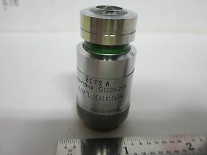 Microscope Objective Vickers Uk England 40x Met Metallograph Optics Bin g5 23