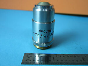 Optical Microscope Part Objective Reichert Austria Fluotar 45x Optics Bin d2 22