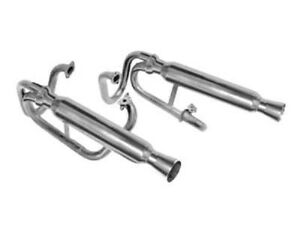Empi 55 3373 Ceramic Dual Buggy Exhaust W Supports Vw Dune Buggy Rail Baja Bug