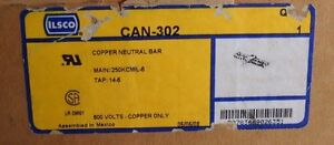 Ilsco Can 302 Copper Neutral Bar Main 250kcmil 6 Tap 12 6 Nib