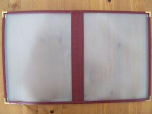 10 Restaurant Menu Covers 4 Page 8 View Letter Size 8 1 2 X 11 Red
