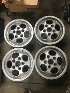 Porsche 944 914 911 928 Phone Dial Wheels Set Of 4 Late Offset Used 15x7