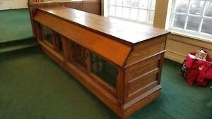 Antique Oak General Store Counter