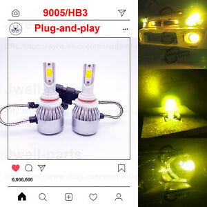 9005 Hb3 Cree Led Headlights Bulbs Kit High Low Beam 8000k Ice Blue 55w 8000lm