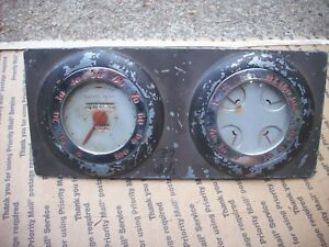 1937 Oldsmobile Speedometer Oil Amps Water Gas Gauge Olds Hot Rod Rat Coupe 1932