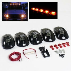 5x Smoked Lens Led Roof Lamp Rooftop Driving Light For Ram 1500 2500 3500 4500