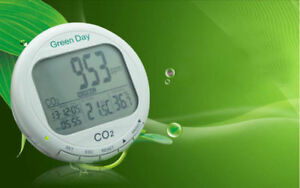 Carbon Dioxide Detector Co2 Monitor With Temperature And Humidity Meter Alarm
