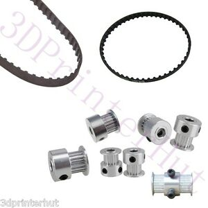 1 Set Ultimaker 2 3d Printer Gt2 Timing Belt gt2 Pulleys 16 20teeth 5 8mm Bore