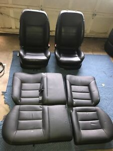 Complete Set Of Oem Vw Front Rear Seats Black Leather From 2004 Jetta Tdi Mk4