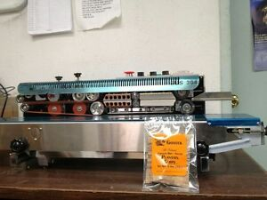 Frd 1000 Horizontal Stainless Steel Continuous Band Sealer Ink Coder Machine