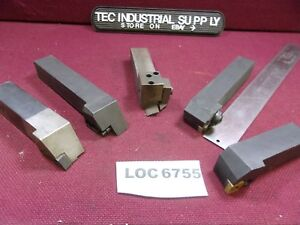 1 Shank Indexable Lathe Turning Tools Lot Of 5 Loc6755