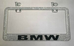Bmw Bling Bling Diamond Frame Custom Rhinestone Metal License Plate Frame
