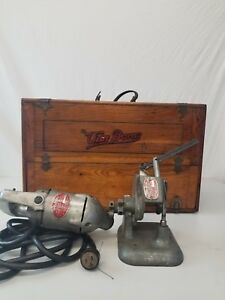 Vintage Van Dorn 55 Vibro centric Valve Seat Grinder With Wooded Tool Box