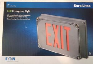 Sure lites Ux71sd Nema 4x Led Exit Sign Light Die Cast Aluminum Housing Rd grn
