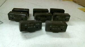 Lot Of 8 Assorted Micro Switch Bz 2r a2 Limit Switch 15a 125 250 Or 480 Vac