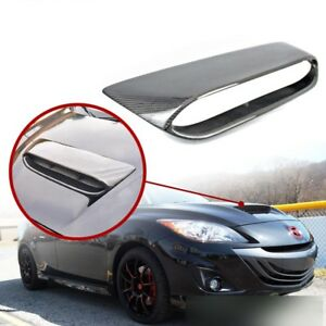 Carbon Fiber For Mazda 3 2nd 4d 5d Fits Mps Mazdaspeed Front Hood Scoop Vent