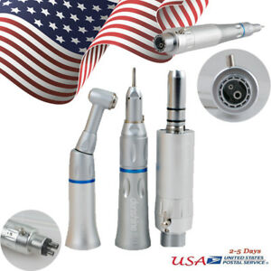 Us Dental Slow Low Speed Handpiece Kit Contra Angle Push Button Fit Nsk 2 4 Hole