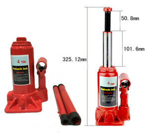 Gm 4 Ton Autos Bottle Jack Hydraulic Stand Up Lifting For Suv Truck Cars Tool