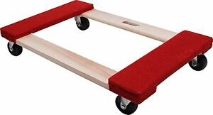 Furniture Moving Dolly Carpeted Wood 840 Lbs Platform Mover Appliances Wheeled