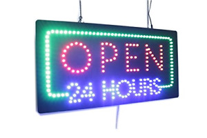 Open 24 Hours Sign Super Bright Led Open Sign Store Sign Business Sign Sign