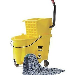 Rubbermaid 35 Court Wavebrake Mop Bucket 7580 Excelllent Quality