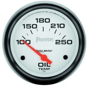 Auto Meter 5847 Phantom Air Core Electric Oil Temp Gauge 2 5 8 Inch