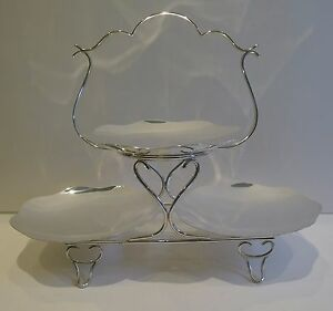 English Silver Plated Cake Stand By Levesley Brothers Of Sheffield C 1900
