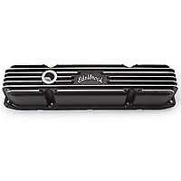 Edelbrock Classic Finned Valve Cover Pair With A Black Finish For Mopar 383 440